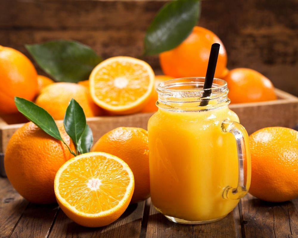 orange juice being used as a natural remedy