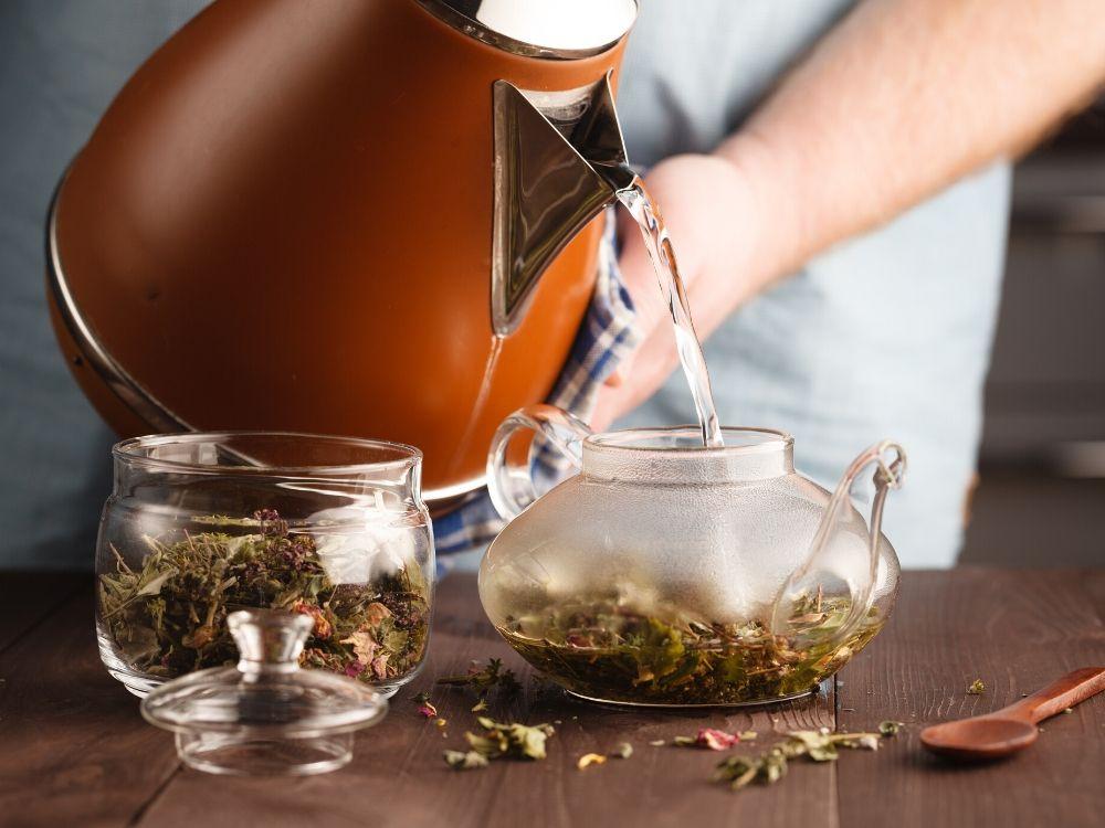 making herbal tea